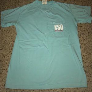 Tops - blue and pink KSO flamingo shirt